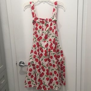 50s Pin-Up Vintage Style Cherry Dress XXL 1950s